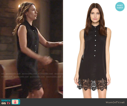 Equipment Sleeveless Lucida Dress worn by Elizabeth Hendrickson on The Young & the Restless