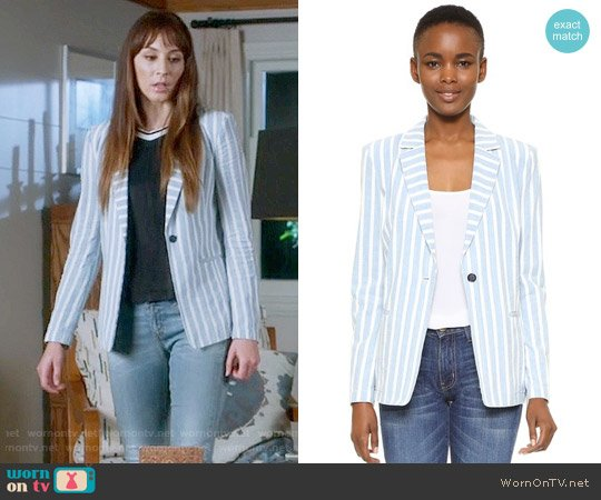 Frame Le Stripe Blazer worn by Troian Bellisario on PLL