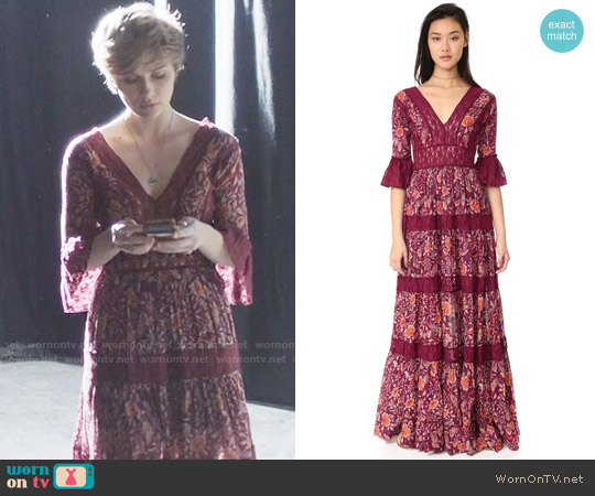 Free People Dulce Maria Maxi Dress worn by Scarlett O'Connor (Clare Bowen) on Nashville