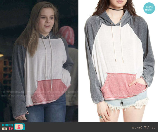 Free People Tri-color Hoodie worn by Maisy Stella on Nashville
