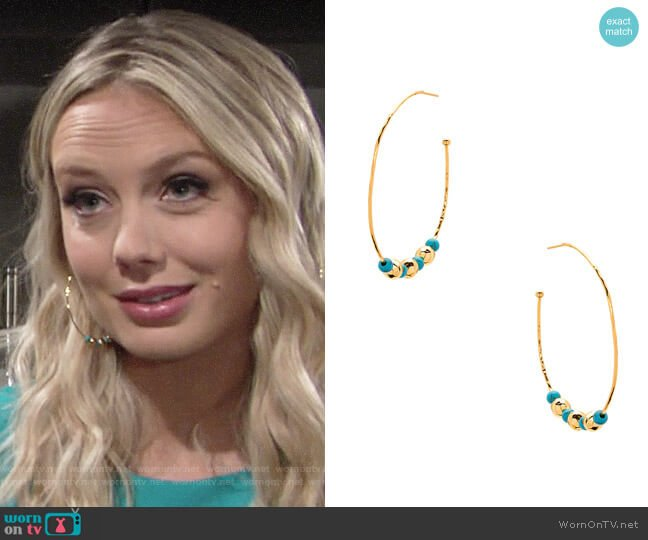 Gorjana Gypset Earrings worn by Melissa Ordway on The Young & the Restless