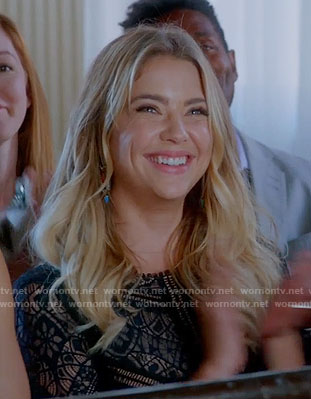 Hanna's black lace dress on Pretty Little Liars