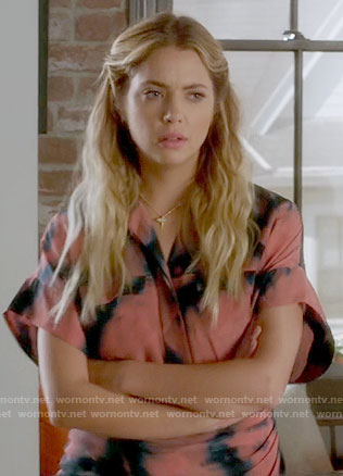 Hanna's pink tie-dye dress on Pretty Little Liars