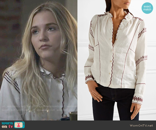Isabel Marant Delphine Top worn by Lennon Stella on Nashville