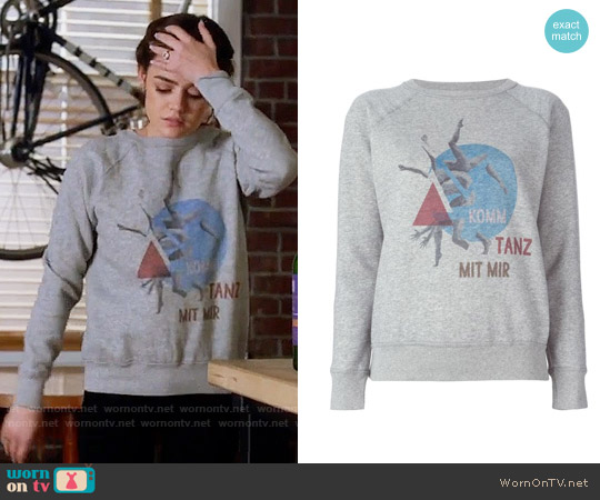 Isabel Marant Buster Sweatshirt worn by Aria Montgomery (Lucy Hale) on PLL