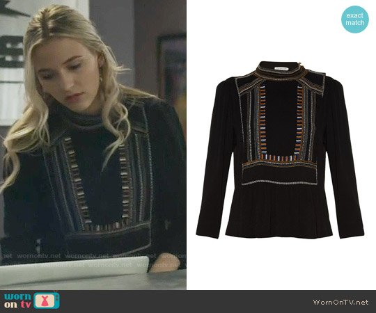 Isabel Marant Cerza Top worn by Lennon Stella on Nashville