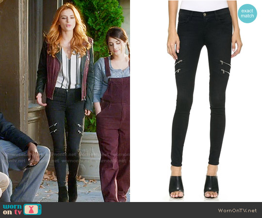 J Brand 8870 Dee Zip Photo Ready Skinny Jeans worn by Paige Townsen on Famous in Love
