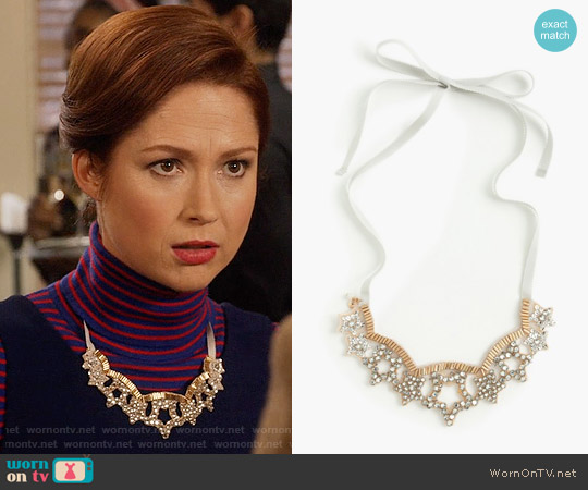 J. Crew Girls Star Gem Necklace worn by Kimmy Schmidt on Unbreakable Kimmy Schmidt
