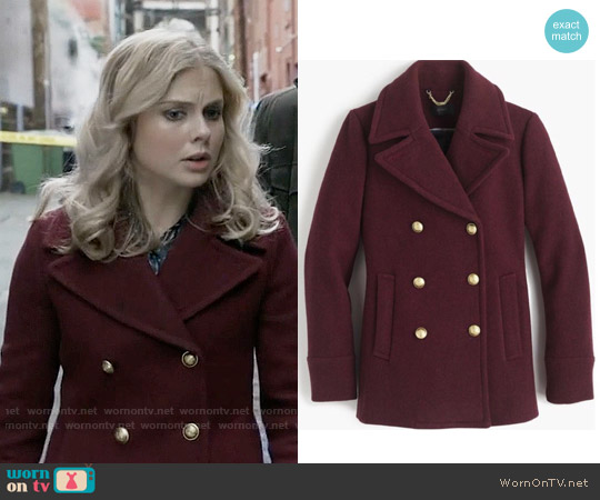 J. Crew Majesty Peacoat worn by Rose McIver on iZombie