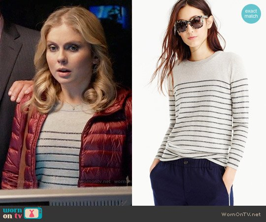 J. Crew Tippi Sweater in Metallic Stripe worn by Liv Moore (Rose McIver) on iZombie