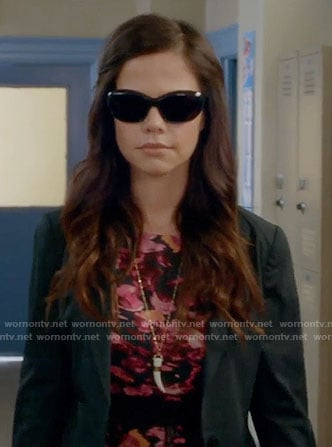 Jenna's pink floral top on Pretty Little Liars
