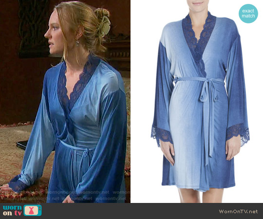Jonquil Stormy Skies Jersey Wrap Robe worn by Abigail Deveraux (Kate Mansi) on Days of our Lives