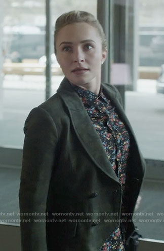 Juliette's floral shirt and camo blazer on Nashville