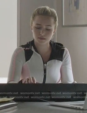Juliette's white and pink active jacket on Nashville
