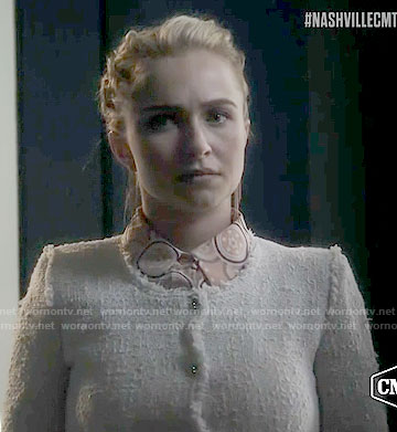 Juliette's white tweed jacket on Nashville