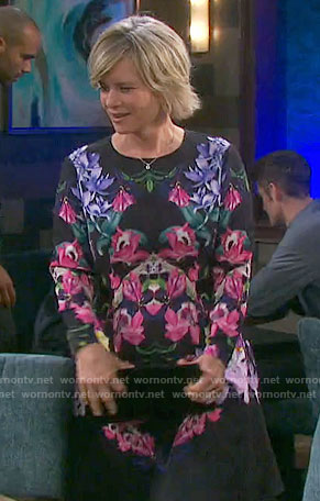 Kayla's floral long sleeved dress on Days of our Lives