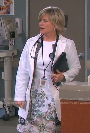 Kayla's white floral dress on Days of our Lives