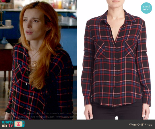 L'Agence Denise Blouse worn by Paige Townsen (Bella Thorne) on Famous in Love