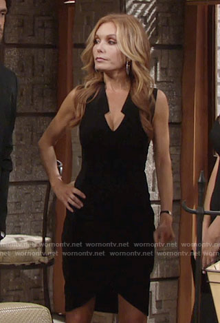 Lauren's black v-neck dress on The Young and the Restless