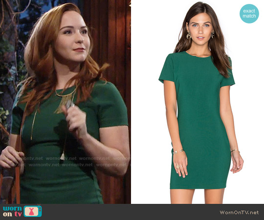 Likely Manhattan Dress in Emerald worn by Camryn Grimes on The Young & the Restless