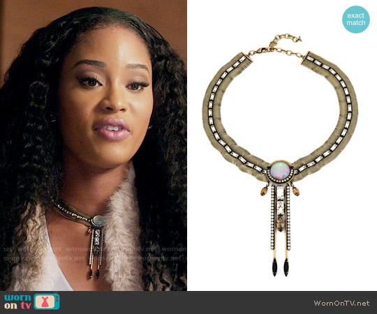 Lionette NY Francisco Necklace worn by Tangey Turner (Pepi Sonuga) on Famous in Love
