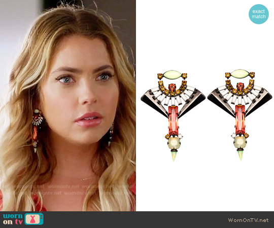 Lionette NY Catalonia Earrings worn by Hanna Marin on PLL