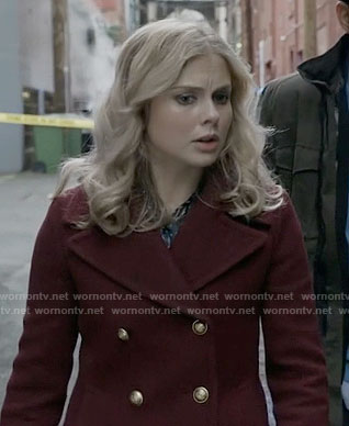 Liv's burgundy peacoat on iZombie
