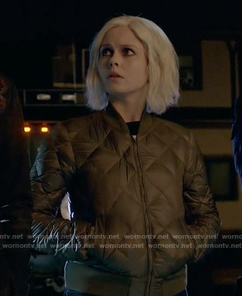 Liv's olive quilted bomber jacket on iZombie