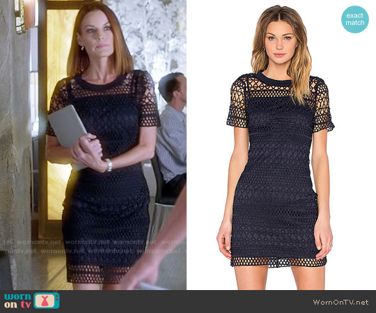 Lucy Paris Embroidered Overlay Dress worn by Ashley Marin (Laura Leighton) on PLL