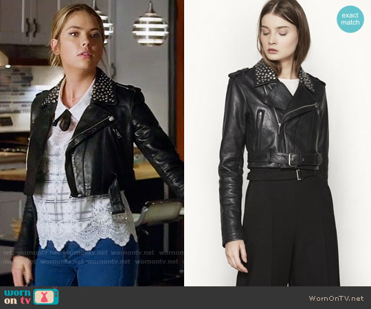 Maje Bloodya Jacket worn by Hanna Marin on PLL