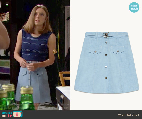 Maje Jamela Skirt worn by Courtney Grosbeck on The Bold & the Beautiful