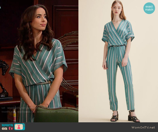 Maje Pandora Jumpsuit worn by Ashleigh Brewer on The Bold & the Beautiful