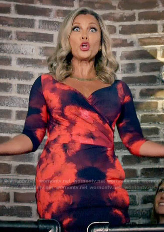 Maxine's black and red floral dress on Daytime Divas