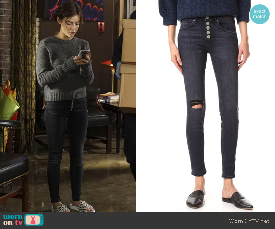 McGuire Newton Jeans worn by Aria Montgomery on PLL