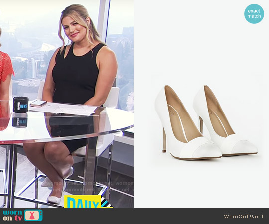 Missguided Snake Print Toecap Pumps worn by Carissa Loethen Culiner on E! News
