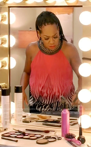 Mo's ombre zebra print top on Daytime Divas
