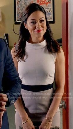 Nina's colorblock high neck dress on Daytime Divas