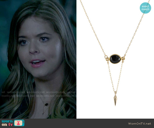Peggy Li Onyx Point Necklace worn by Alison DiLaurentis (Sasha Pieterse) on PLL