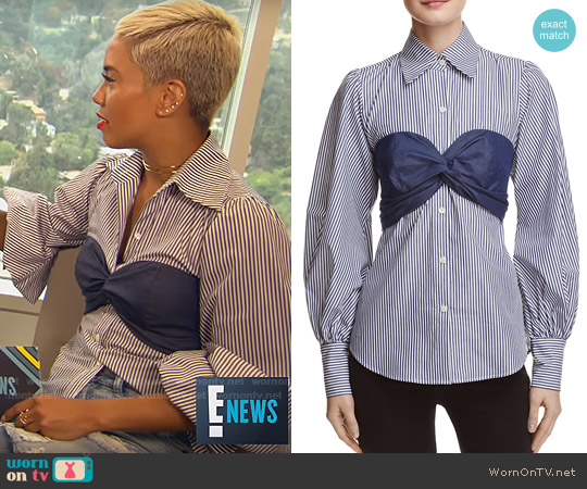 Petersyn Mia Top worn by Sibley Scoles  on E! News