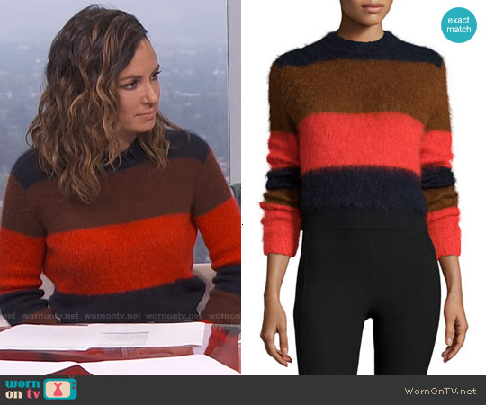 Rag & Bone Petra Striped Sweater worn by Catt Sadler on E! News