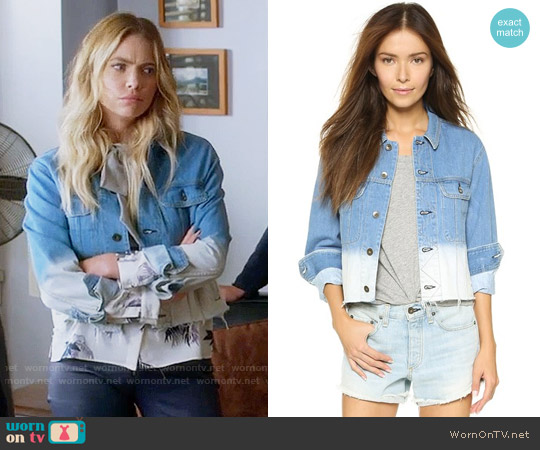 Rag & Bone Cropped Boyfriend Jean Jacket worn by Ashley Benson on PLL