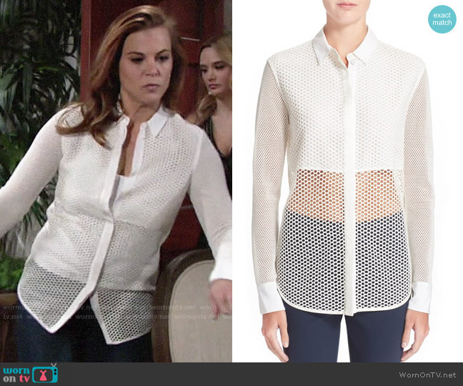 Rag & Bone Luna Top worn by Phyllis Newman (Gina Tognoni) on The Young & the Restless