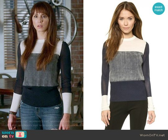 Rag & Bone Marissa Sweater worn by Troian Bellisario on PLL