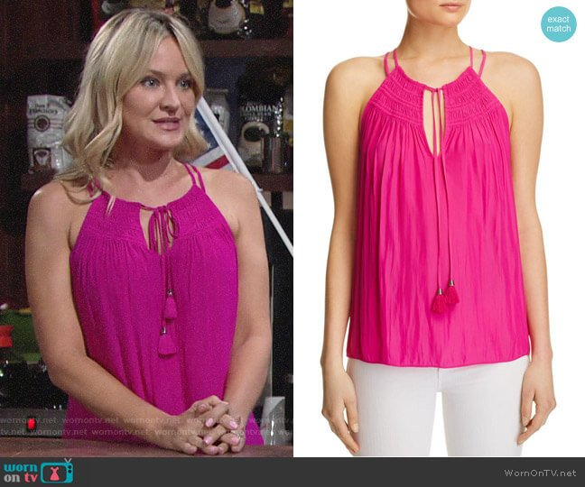 Ramy Brook Marissa Top worn by Sharon Case on The Young & the Restless