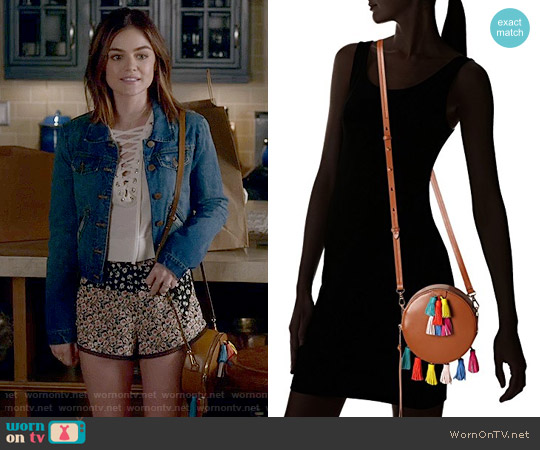 Rebecca Minkoff Sofia Round Crossbody Bag worn by Aria Montgomery on PLL