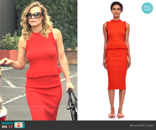 Rebecca Taylor Ribbed Tank and Skirt worn by Gina Tognoni on The Young & the Restless