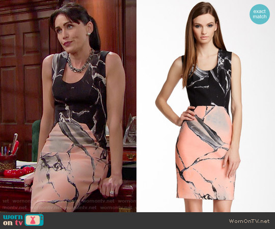 Robert Rodriguez Carrara Silk Dress worn by Rena Sofer on The Bold & the Beautiful