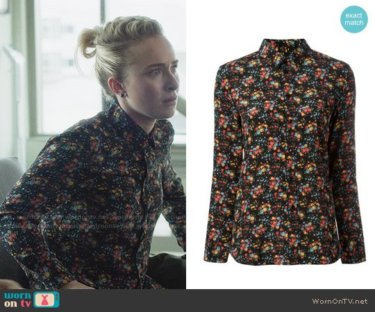 Saint Laurent Paris Collar Floral Shirt worn by Hayden Panettiere on Nashville