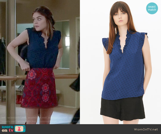 Sandro Poppy Top worn by Lucy Hale on PLL