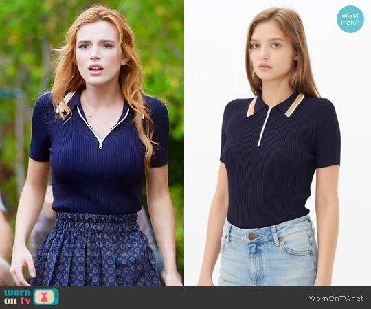 Sandro Sallie Jumper worn by Bella Thorne on Famous in Love